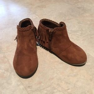 Brown moccasin boots